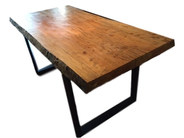 Salvaged Silver Maple dining room table